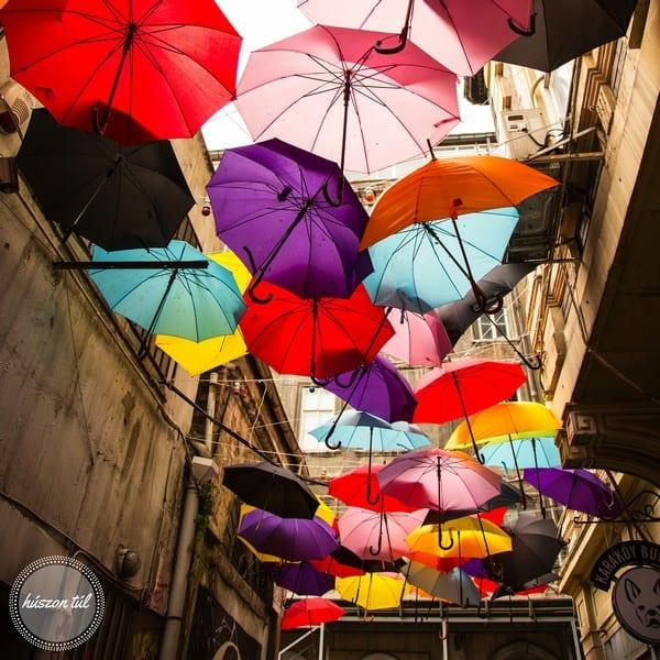 esik eső - esernyők