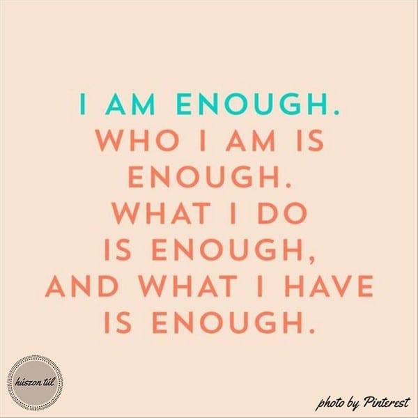 hogyanlegyekjono I am enough tábla