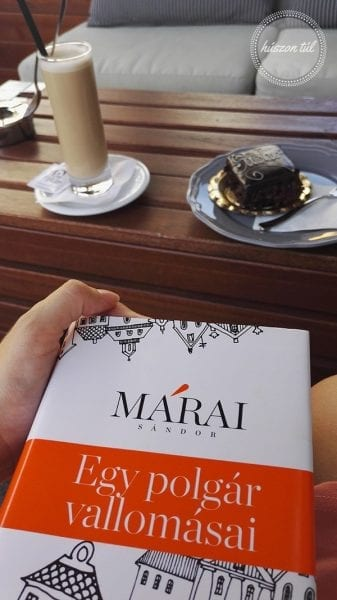 Nyár Márai könyv kávé