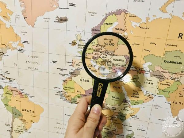 térképetáj-Magyarország nagyítón keresztül